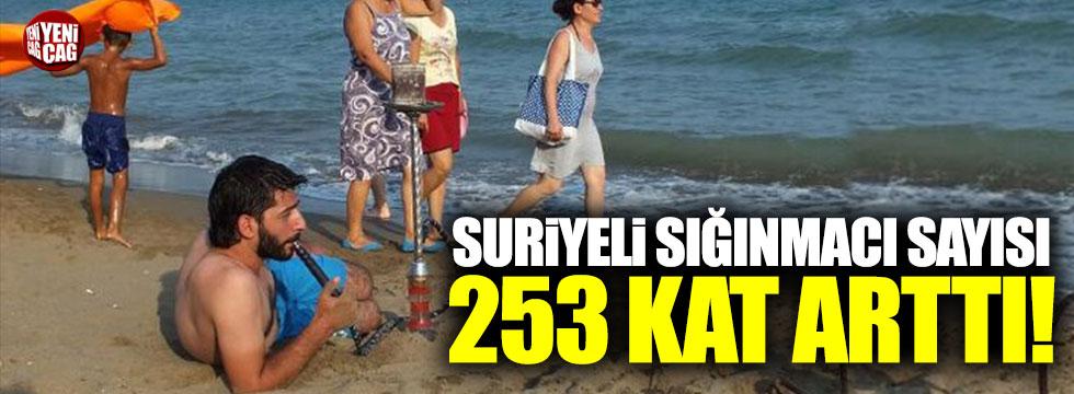 Suriyeli sığınmacı sayısı 253 kat arttı!