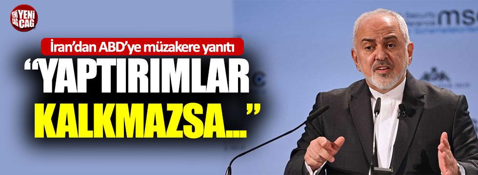 """Cevad Zarif: """"Yaptırımlar kalkmazsa ABD ile görüşmeler başlamaz"""""""