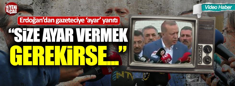 Erdoğan ile gazeteciler arasında ilginç diyalog