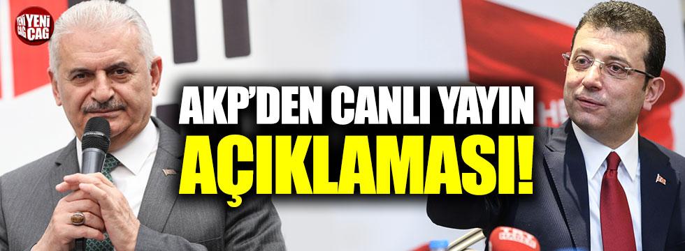 AKP'den canlı yayın açıklaması!