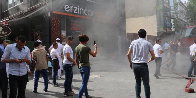 Erzincan'da restoranda yangın