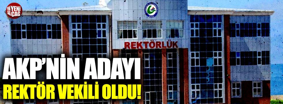 AKP'nin adayı rektör vekili oldu!