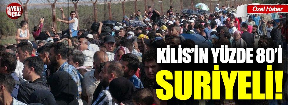 Kilis'in yüzde 80 Suriyeli!