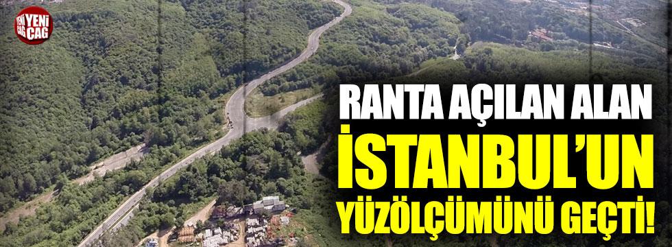 Ranta açılan alan İstanbul'un yüzölçümünü geçti!
