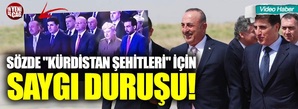 """Çavuşoğlu'ndan sözde """"Kürdistan şehitleri"""" için saygı duruşu!"""