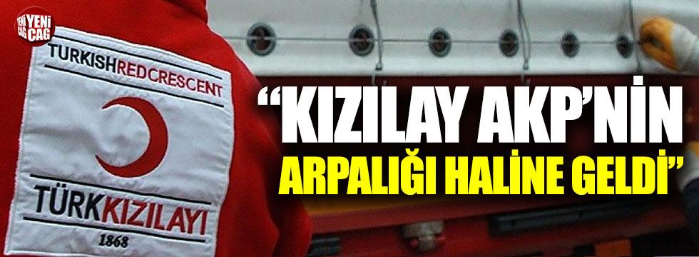"""""""Kızılay AKP'nin arpalığı haline geldi"""""""