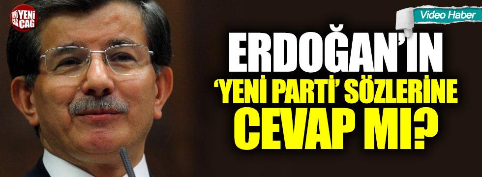 Davutoğlu'ndan yeni parti sinyali