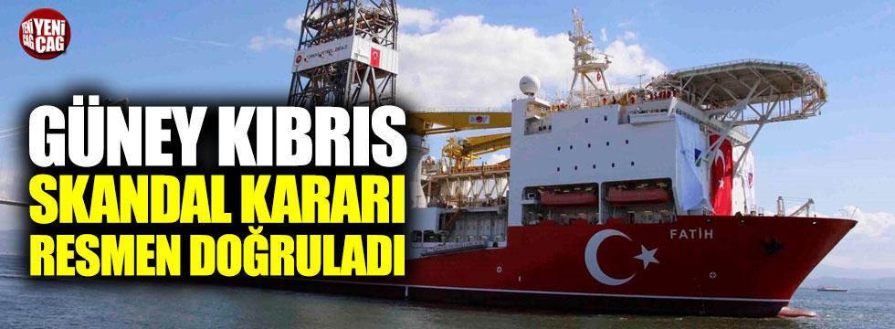 Güney Kıbrıs skandal kararı resmen doğruladı