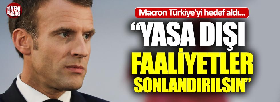Macron Türkiye'yi hedef aldı