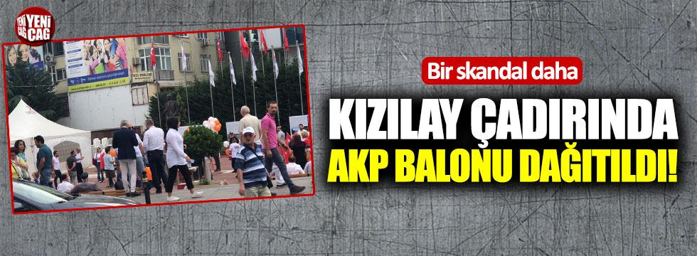 Kızılay çadırında AKP balonu dağıtıldı!
