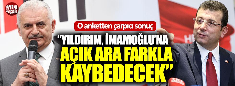"""O anketten çarpıcı sonuç: """"Yıldırım, İmamoğlu'na açık ara farkla kaybedecek"""""""