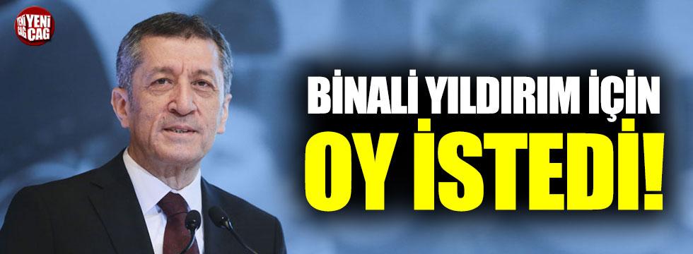 Milli Eğitim Bakanı Selçuk'tan Yıldırım'a destek