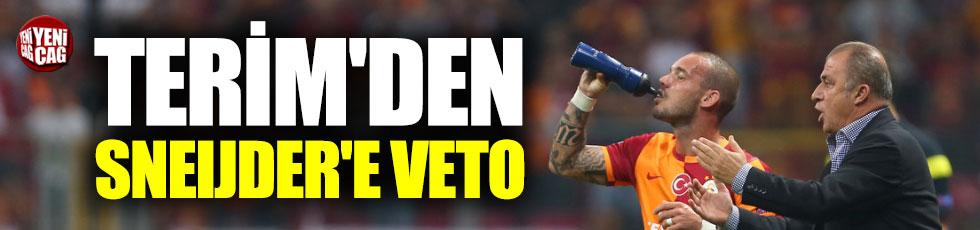Terim'den Sneijder'e veto