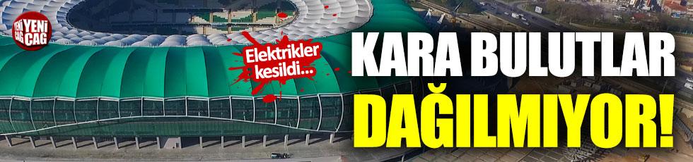 Bursaspor'un elektrikleri kesildi