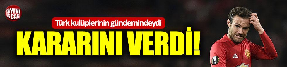 Türk kulüplerinin gündemindeydi: Mata kararını verdi!
