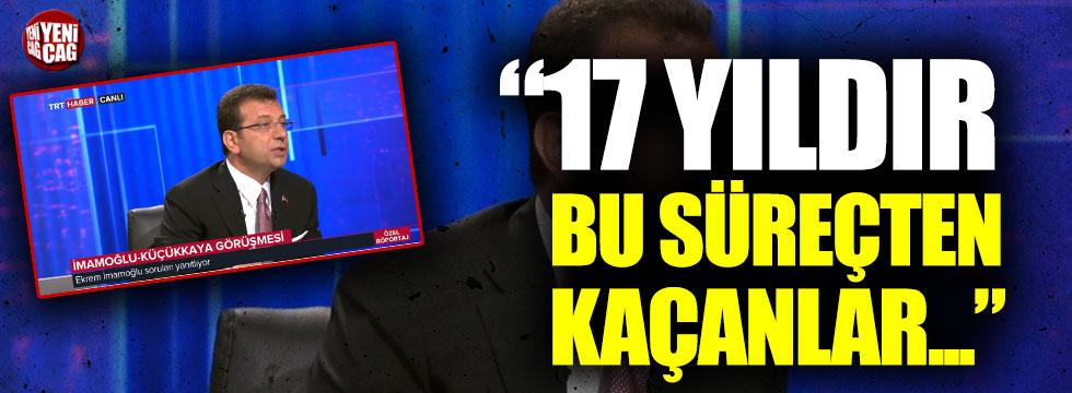 Ekrem İmamoğlu TRT'nin canlı yayınında