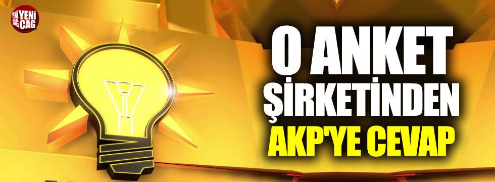 O anket şirketinden AKP'ye cevap