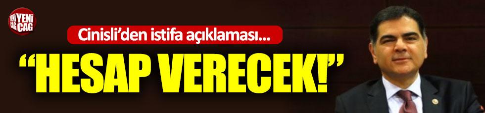Cinisli'den istifa eden İl Başkanına tepki