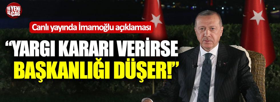 Erdoğan'dan İmamoğlu açıklaması