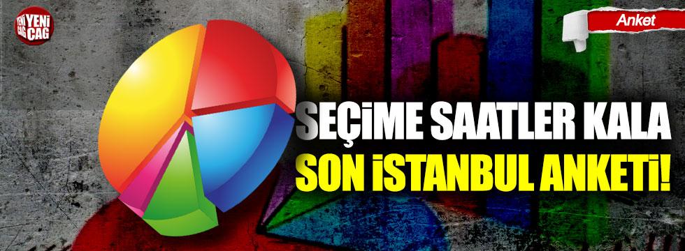 Seçime saatler kala son İstanbul anketi!