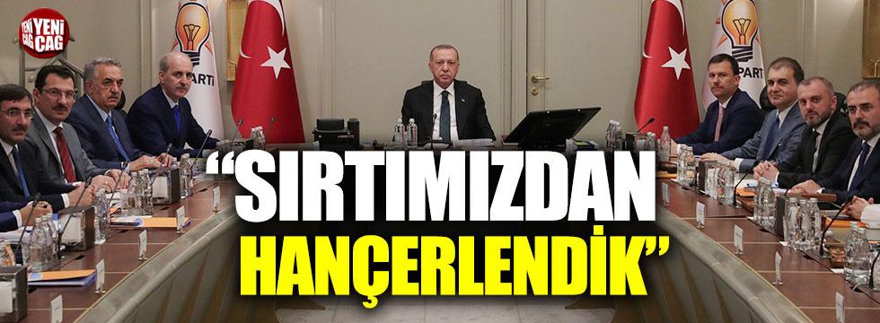 """Erdoğan: """"Sırtımızdan hançerlendik"""""""