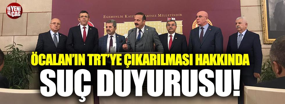 Öcalan'ın TRT'ye çıkarılması hakkında suç duyurusu