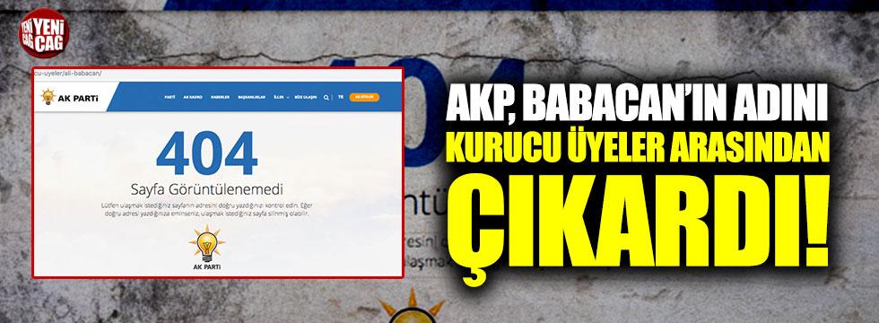 AKP, Babacan'ın adını kurucu üyeler arasından çıkardı!