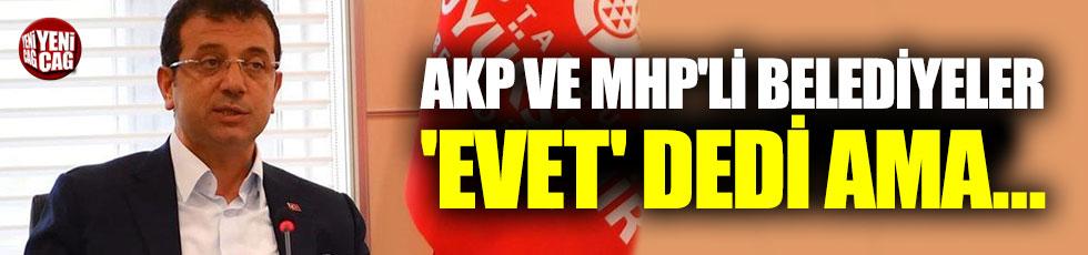 AKP ve MHP'li belediyeler 'evet' dedi ama katılmadı