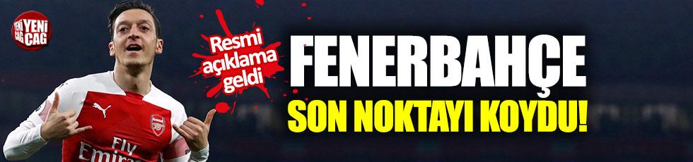 Fenerbahçe'den Mesut Özil açıklaması!