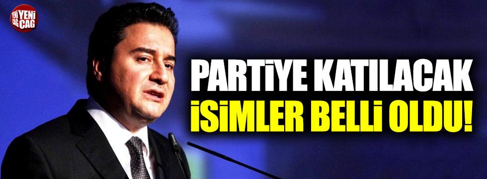 İşte Babacan'ın yeni partisine katılacak isimler!