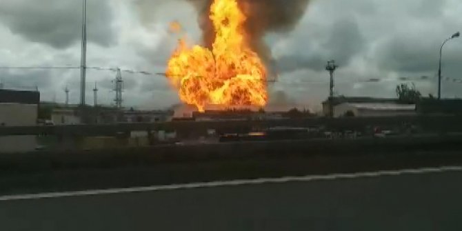 Rusya'da termik santralde büyük yangın