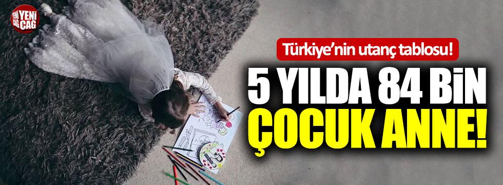 Türkiye'nin utanç tablosu! 5 yılda 84 bin çocuk anne!