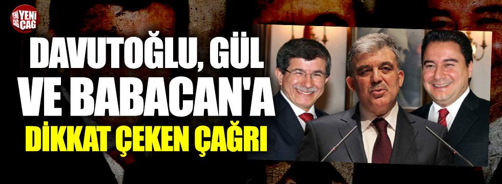 Abdüllatif Şener'den Davutoğlu ve Babacan'a çağrı