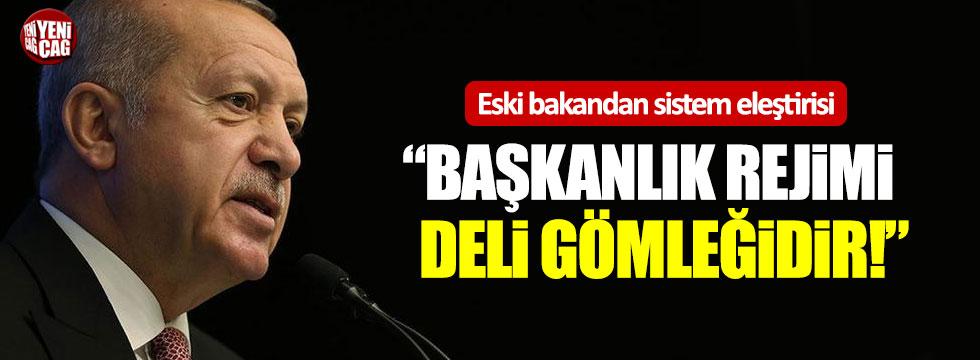 """Eski Bakan'dan sistem eleştirisi: """"Başkanlık rejimi deli gömleğidir"""""""