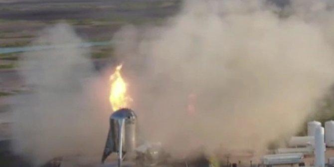 SpaceX'in dev roketi ikinci kez alevlere teslim oldu