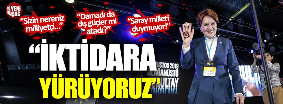 """Meral Akşener: """"Büyük bir gayretle iktidara yürüyoruz"""""""