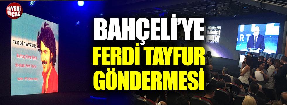 İYİ Parti kurultayında Bahçeli'ye Ferdi Tayfur göndermesi