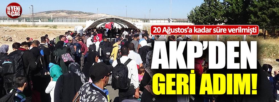 AKP'den geri adım!