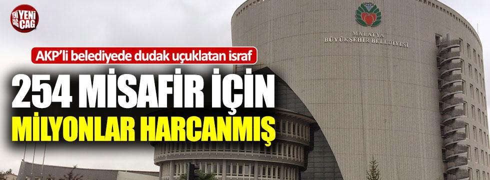 AKP'li Malatya Belediyesi'nde dudak uçuklatan israf
