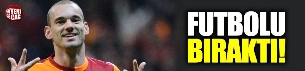 Sneijder futbolu bıraktı