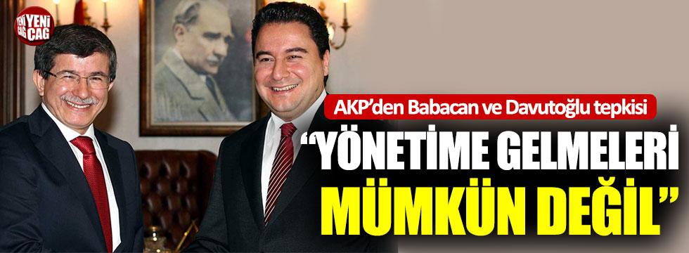 AKP'li Mehmet Ali Şahin'den Babacan ve Davutoğlu tepkisi