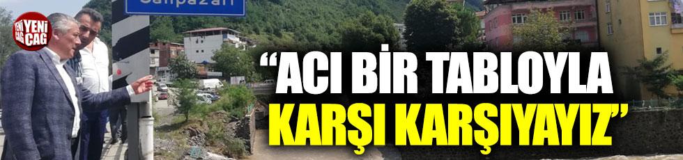 İYİ Partili vekiller sel felaketinin yaşandığı Samsun'a gitti