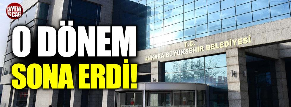 Ankara'da o dönem sona eriyor