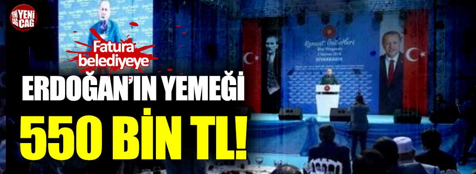 Erdoğan katıldığı yemeğin faturası belediyeye kesildi!