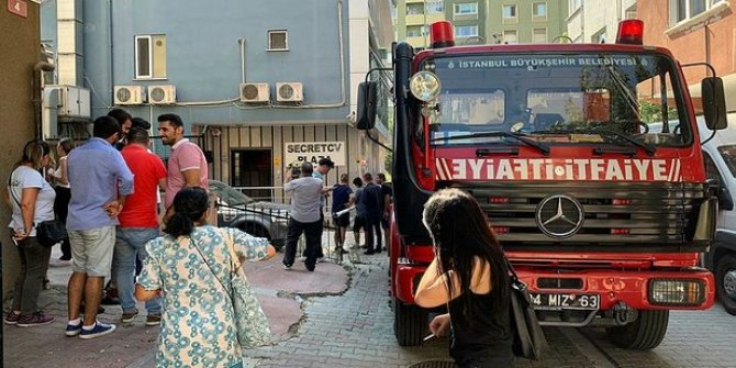 Ataşehir'de iş merkezinde yangın!