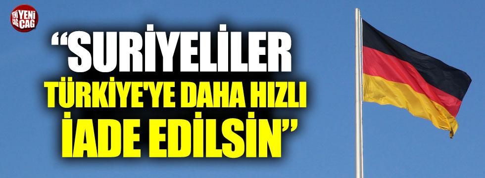"""Almanya da """"Suriyeliler Türkiye'ye iade edilsin"""" dedi"""