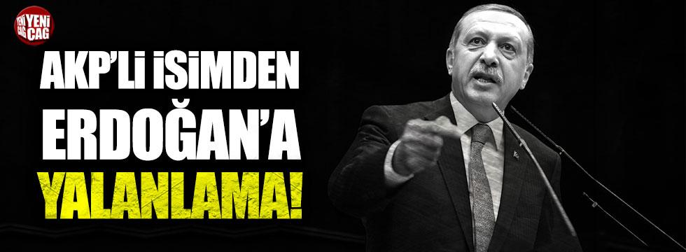 AKP'li Asım Güzelbey'den Tayyip Erdoğan'a yalanlama