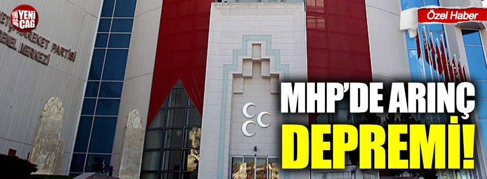 MHP'de Arınç depremi!