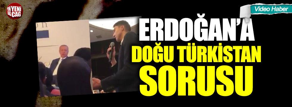 Erdoğan'a ABD'de Doğu Türkistan sorusu