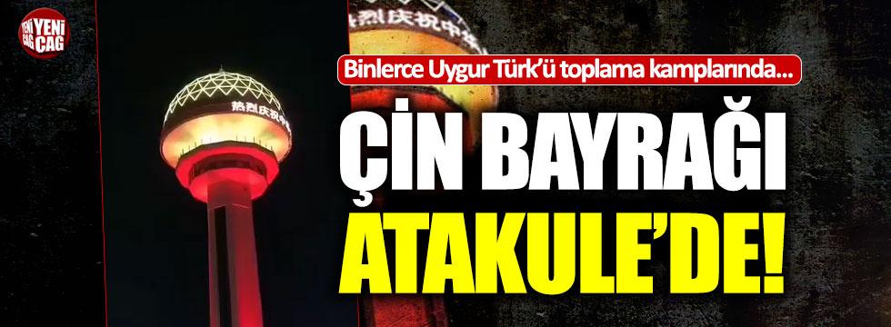 Çin bayrağı Ankara'nın simgesi Atakule'de